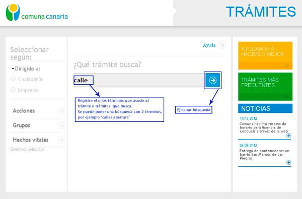 Gu a para uso del portal de tr mites de la comuna canaria for Tramites web ministerio del interior
